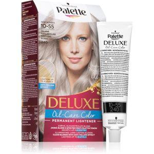 Schwarzkopf Palette Deluxe permanentní barva na vlasy výhodné balení odstín 10-55 (240) Dusty Cool Blonde 3 ks