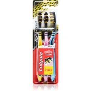 Colgate Zig Zag Charcoal zubní kartáček 3 ks