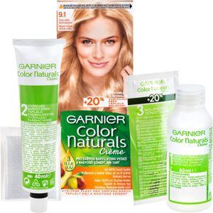 Garnier Color Naturals Creme barva na vlasy odstín 9.1 Natural Extra Light Ash Blond