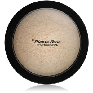 Pierre René Face Highlighting Powder kompaktní pudrový rozjasňovač odstín 01 Glazy Look 12 g
