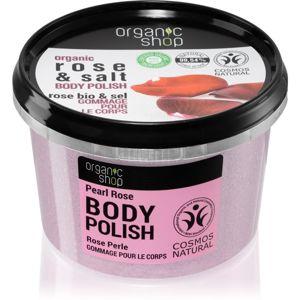 Organic Shop Organic Rose & Salt tělový peeling se solí 250 ml