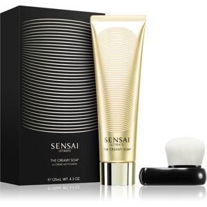 Sensai Ultimate krémové mýdlo s kartáčkem 125 ml