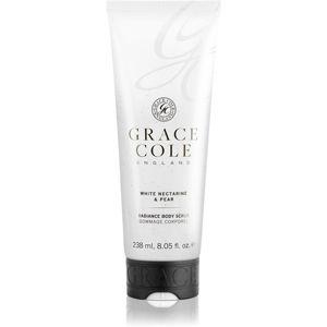 Grace Cole White Nectarine & Pear pečující tělový peeling 238 ml