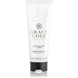 Grace Cole White Nectarine & Pear tělové máslo 225 g