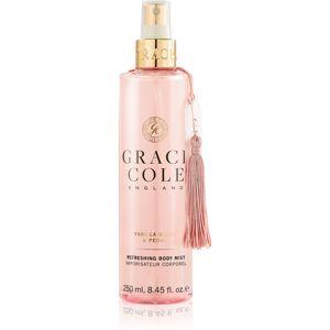 Grace Cole Vanilla Blush & Peony osvěžující mlha na tělo 250 ml