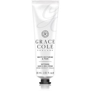 Grace Cole White Nectarine & Pear zjemňující krém na ruce a nehty 30 ml