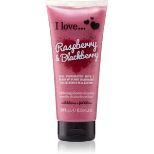 I love... Raspberry & Blackberry sprchový peeling 200 ml