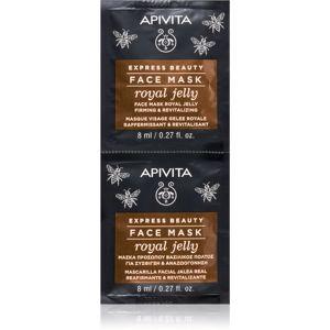 Apivita Express Beauty Royal Jelly revitalizační pleťová maska se zpevňujícím účinkem 2 x 8 ml