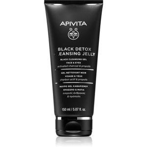 Apivita Cleansing Propolis & Activated Carbon čisticí gel s aktivním uhlím na obličej a oči 150 ml