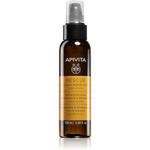 Apivita Holistic Hair Care Argan Oil & Olive hydratační a vyživující olej na vlasy s arganovým olejem 100 ml