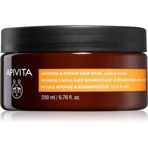 Apivita Holistic Hair Care Olive & Honey vyživující maska na vlasy 200 ml