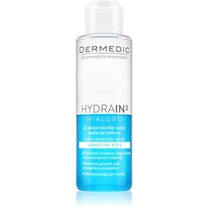 Dermedic Hydrain3 Hialuro dvoufázová micelární voda na oči 115 ml