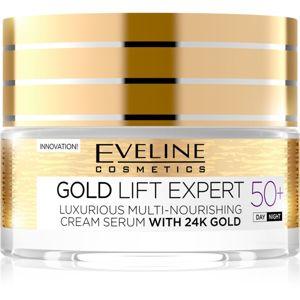 Eveline Cosmetics Gold Lift Expert denní a noční krém proti vráskám 50+ 50 ml