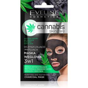 Eveline Cosmetics Cannabis čisticí jílová pleťová maska 7 ml