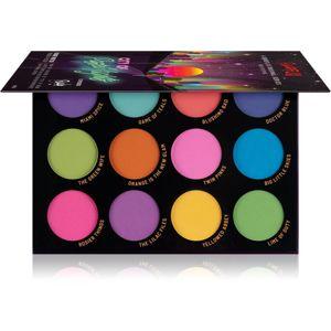 Rude Cosmetics City of Pastel Lights paleta očních stínů 12 g