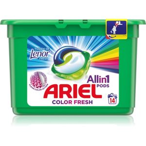Ariel Color Touch Of Lenor kapsle na praní 14 ks