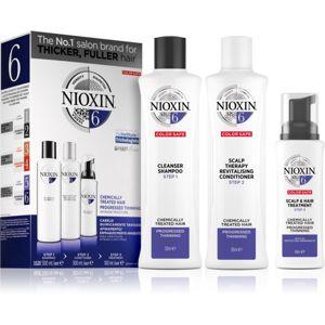 Nioxin System 6 Color Safe Chemically Treated Hair dárková sada pro řídnoucí vlasy VI.