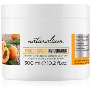 Naturalium Fresh Skin Apricot povzbuzující tělový peeling 300 ml