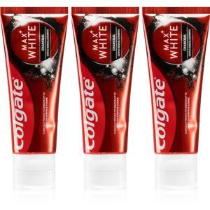 Colgate Max White Charcoal bělicí zubní pasta s aktivním uhlím 3 x 75 ml