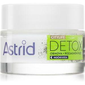Astrid CITYLIFE Detox noční obnovující krém s aktivním uhlím 50 ml