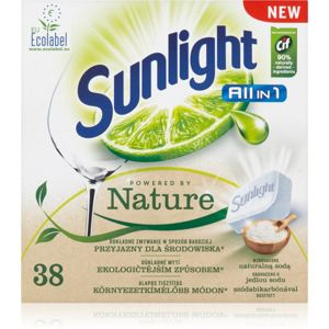 Sunlight All in 1 Powered by Nature tablety do myčky ECO 38 ks