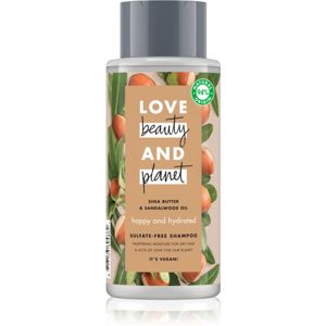 Love Beauty & Planet Happy and Hydrated šampon pro suché vlasy 400 ml
