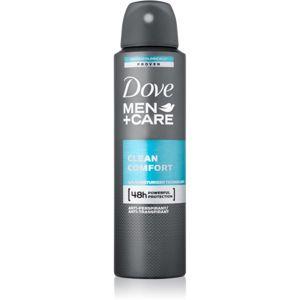 Dove Men+Care Clean Comfort deodorant antiperspirant ve spreji 48h 150 ml