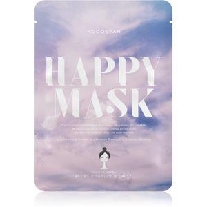 KOCOSTAR Happy Mask pečující plátýnková maska s hydratačním účinkem 23 ml