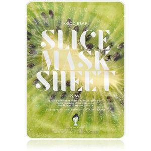 KOCOSTAR Slice Mask Sheet Kiwi rozjasňující plátýnková maska s vitaminem C 20 ml