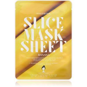 KOCOSTAR Slice Mask Sheet Banana vyživující plátýnková maska pro zářivý vzhled pleti 20 ml