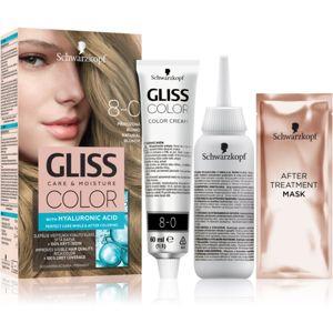 Schwarzkopf Gliss Color barva na vlasy odstín 8-0 Natural Blonde