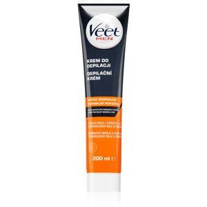 Veet Men Silk & Fresh hydratační depilační krém pro normální pokožku pro muže 200 ml