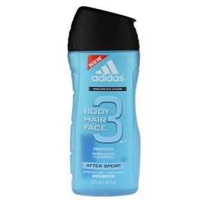Adidas 3 After Sport sprchový gel pro muže 250 ml