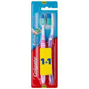 Colgate Extra Clean zubní kartáčky medium 2 ks barevné varianty 2 ks