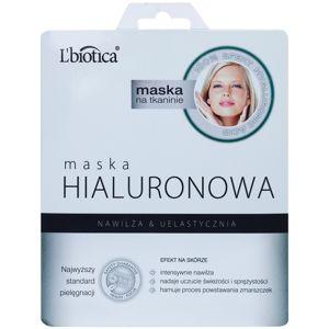L'biotica Masks Hyaluronic Acid plátýnková maska s hydratačním a vyhlazujícím účinkem 23 ml