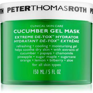 Peter Thomas Roth Cucumber De-Tox hydratační gelová maska na obličej a oční okolí 150 ml