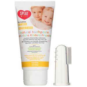 Splat Baby přírodní zubní pasta pro děti s masážním kartáčkem příchuť Vanilla 40 ml